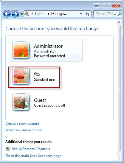 how to find user list password windows 7
