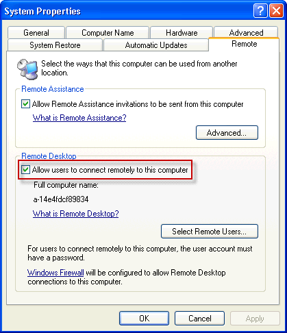 Rdp Configuration Guide On Windows Xp Xtralogic Inc
